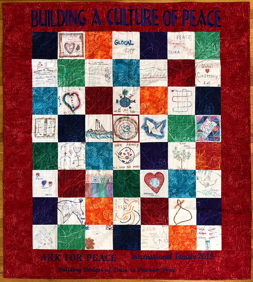ARK quilt dedicated at United Nations September 2019